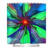 Abstract 080610c Shower Curtain