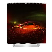Abstract 081410a Shower Curtain