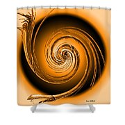 Abstract 086 Shower Curtain