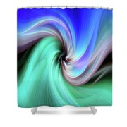 Abstract 0902 B Shower Curtain