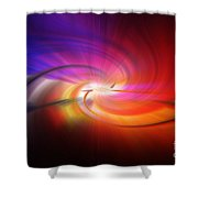Abstract 0902 D Shower Curtain
