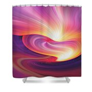 Abstract 0902 I Shower Curtain