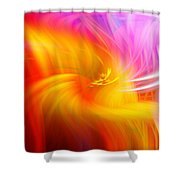 Abstract 0902 L Shower Curtain