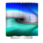 Abstract 0902 P Shower Curtain