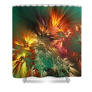Abstract 090710a Shower Curtain