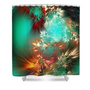 Abstract 090710b Shower Curtain