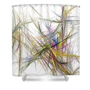 Abstract 10-16-09-2 Shower Curtain