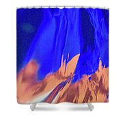 Abstract 10058 Shower Curtain