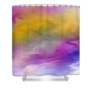 Abstract 101410 Shower Curtain