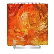 Abstract 106 Digital Oil Painting On Canvas Full Of Texture And Brig Shower Curtain