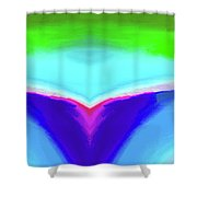 Abstract 106x By Nixo Shower Curtain