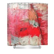 Abstract 107 Digital Oil Painting On Canvas Full Of Texture And Brig Shower Curtain