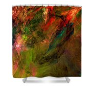 Abstract 112210a Shower Curtain