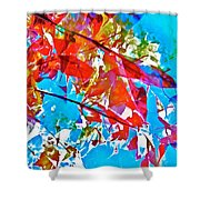Abstract 128 Shower Curtain