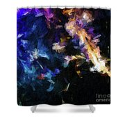 Abstract 134 Digital Oil Painting On Canvas Full Of Texture And Brig Shower Curtain