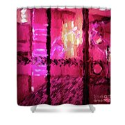 Abstract 135 Digital Oil Painting On Canvas Full Of Texture And Brig Shower Curtain