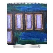 Abstract 139 Shower Curtain