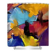Abstract 1412 Shower Curtain