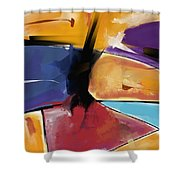 Abstract 1445 Shower Curtain