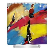 Abstract 1508 Shower Curtain
