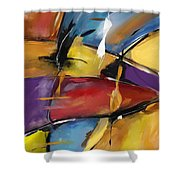 Abstract 1509 Shower Curtain