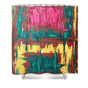 Abstract 16 Shower Curtain