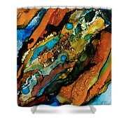 Abstract 17 Shower Curtain