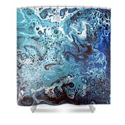 Abstract 1706301 Shower Curtain