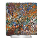 Abstract #179 Shower Curtain