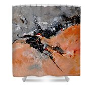 Abstract 1811503 Shower Curtain