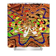 Abstract #1859drawpc Shower Curtain