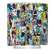 Abstract 2018-02 Shower Curtain