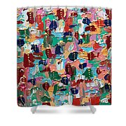 Abstract 2018-04 Shower Curtain