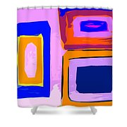 Abstract 223b Shower Curtain