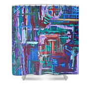 Abstract 27 Shower Curtain