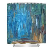 Abstract 297 Shower Curtain