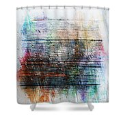 2e Abstract Expressionism Digital Painting Shower Curtain