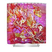 Abstract 304 Shower Curtain
