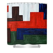 Abstract 343 Shower Curtain
