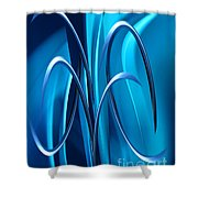 Abstract 36 Shower Curtain