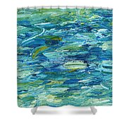 Abstract 366 Shower Curtain
