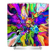 Abstract 373 Shower Curtain