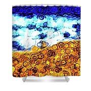 Abstract 3821 Shower Curtain