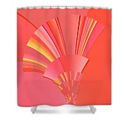 Abstract 386 Shower Curtain