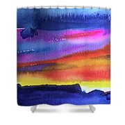 Joan's Sunset Shower Curtain