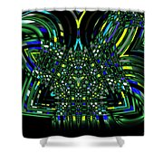 Abstract 401 Shower Curtain