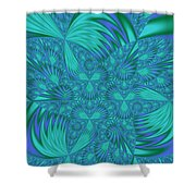 Abstract 404 Shower Curtain