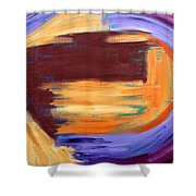 Abstract 413 Shower Curtain