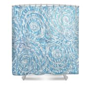 Abstract 432 Shower Curtain