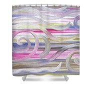 Abstract 436 Shower Curtain